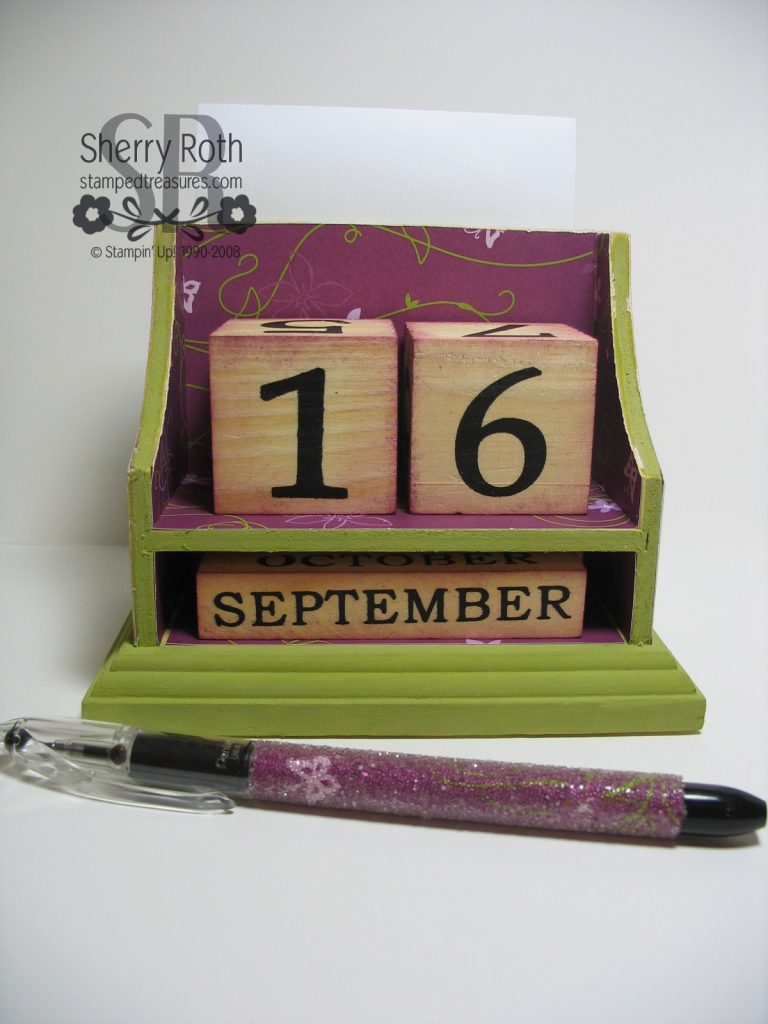 Stamp Fest Desktop Calendar Kit
