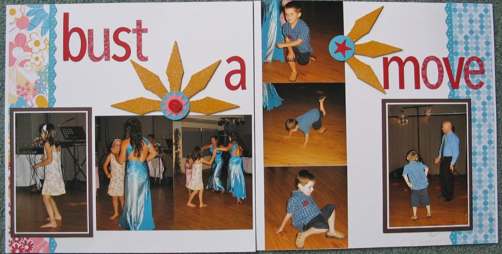 Bust A Move Scrapbook Page