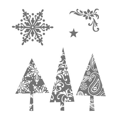 Patterned Pines November Free stamp Set