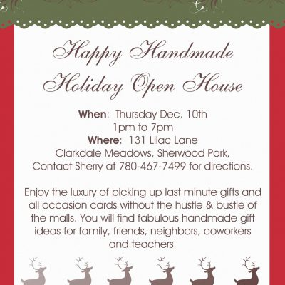 December Free Stamp Set/ Happy Handmade Holiday Open House