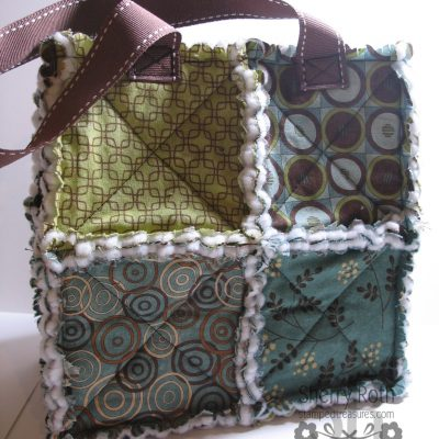 Scallop Square Fabric Bag & Fabric Frenzy Giveaway