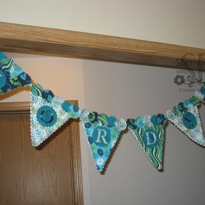 Fabric Birthday Banner