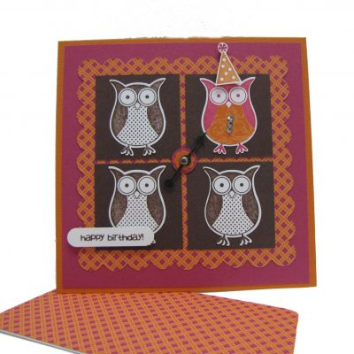 Diva Day Owl Birthday Card