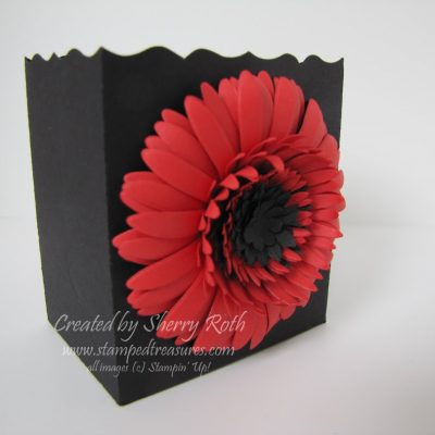 Gerbera Daisy Wedding Favor Box