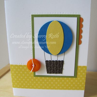 Hot Air Balloon Punch Card