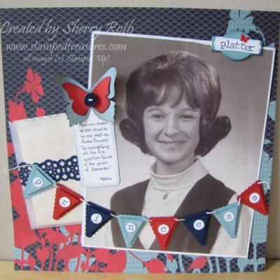 Platter Princess Scrapbook Layout