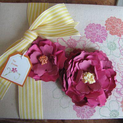Decorating a Linen Album