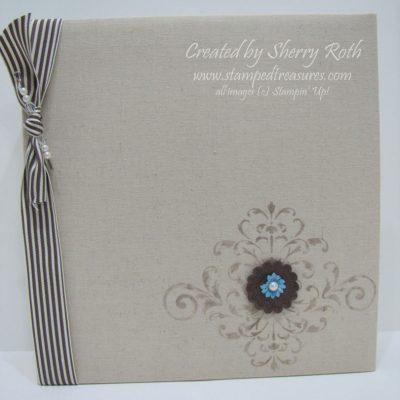 Stenciled Linen Album