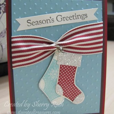 Stitched Stockings Season's Greetings