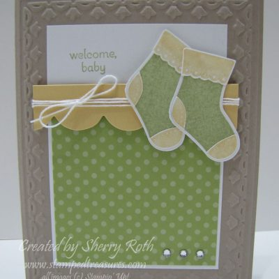 Welcome Baby, Bootie Card