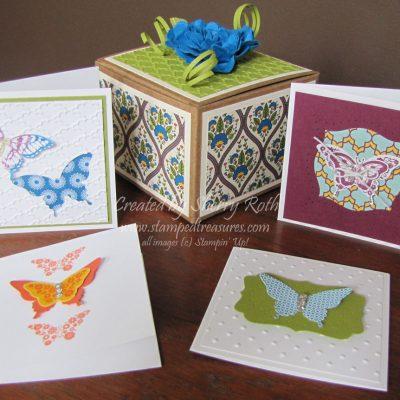 Papillon Potpourri Mini Note Card Set