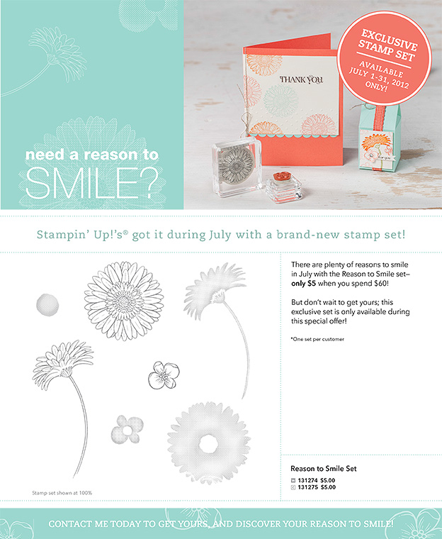 Last Chance to get the Reason to Smile set! - Stamped