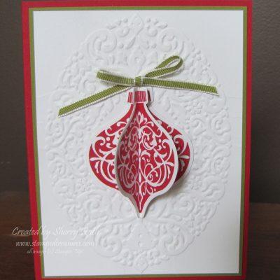 Ornament Keepsakes Dimensional Card