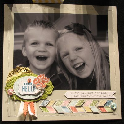 Scrapbooking with Stampin' Up!'s Oh, Hello Stamp Set