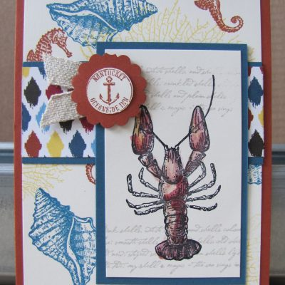 By the Tide Lobster Card