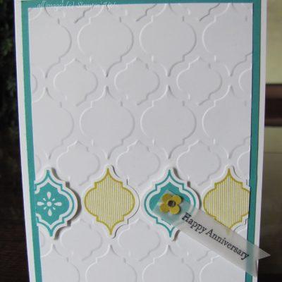 Mosaic Madness Anniversary Card