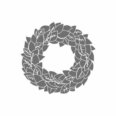 Wonderful Wreath Christmas Card