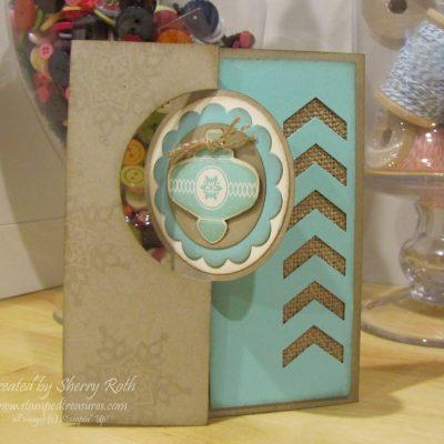 Circle Card Thinlit Christmas Card