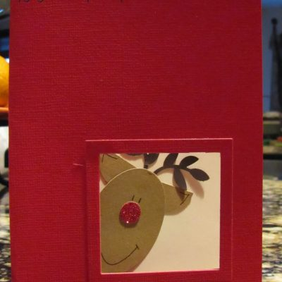 Reindeer Punch Art Christmas Card and Open Crop Day