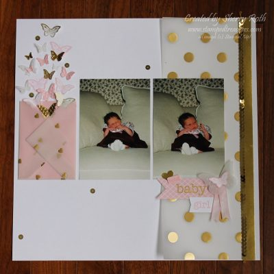 Stampin' Up! Baby Prints Layout