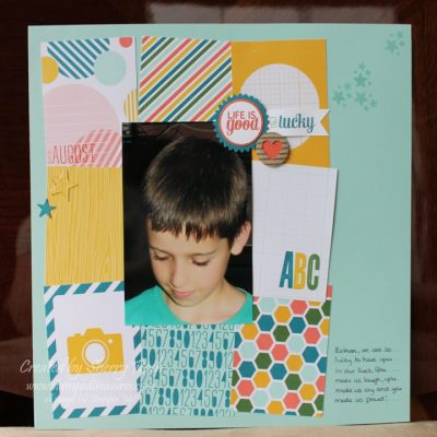 Traditional Layout using Project Life Cards