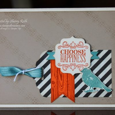 Choose Happiness Tag Card