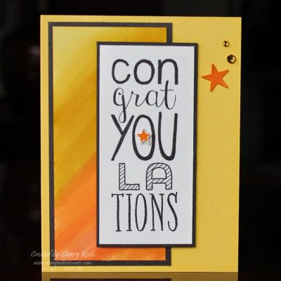 Congratulations card using the Bravo stamp set