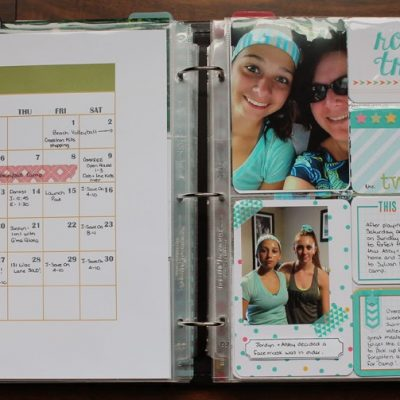 August 2014 Project Life Layout