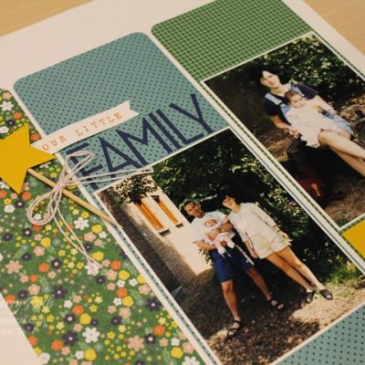 Scrapbook Saturday – Our Little Family Layout