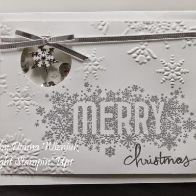 Seasonally Scattered Merry Card