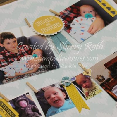 Banner Layout Using Snuggles and Smooches by Stampin' Up!
