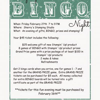 Stamping Bingo Night