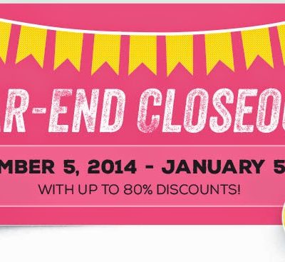 Last few days of the Year-End Closeouts