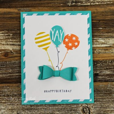 Balloon Bash Birthday Card