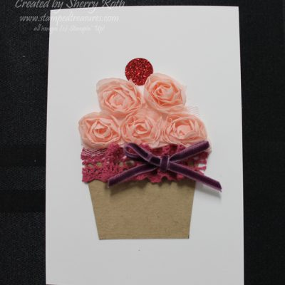 Artisan Embellishment Cupcake Card