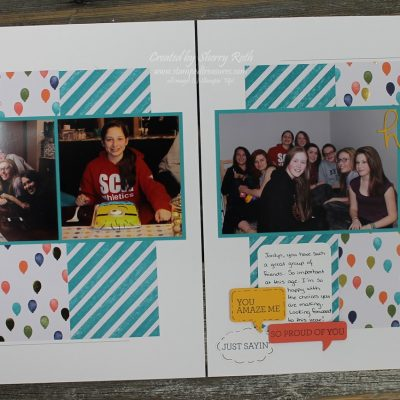 Scrapbook Saturday – Birthday Layout