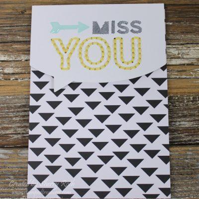 March Paper Pumpkin – Miss You Card