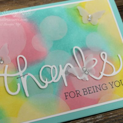 Thanks for being you Bokeh card