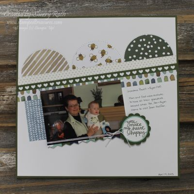 Scrapbook Saturday – You Make My Heart Happy Layout