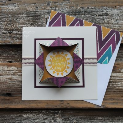 Fun Fold using Stampin' Up!'s Silhouettes & Script
