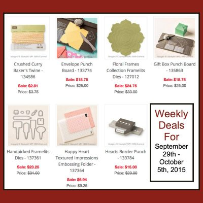 Cotton Paper Flowers and Weekly Deals