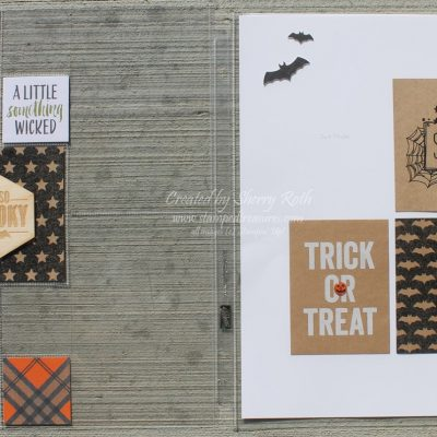 Halloween Layout with Seasonal Snapshot 2015