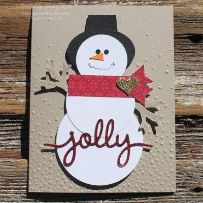 Jolly Snowman Punch Art Card