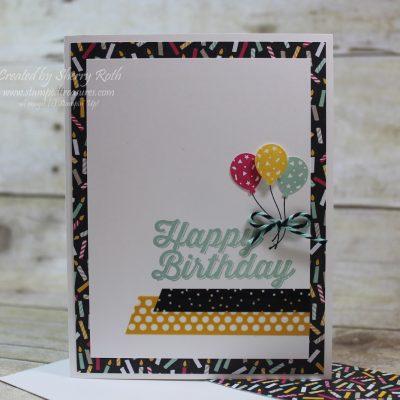 Happy Birthday Bitty Balloon Card