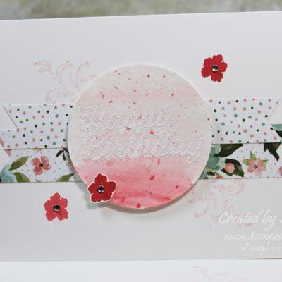 Birthday Bouquet Watercolor Wash