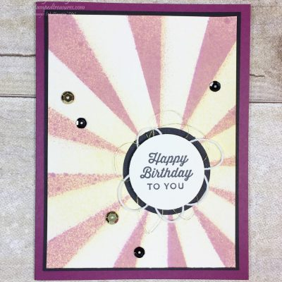 Sunburst Sayings and Thinlits Birthday Card