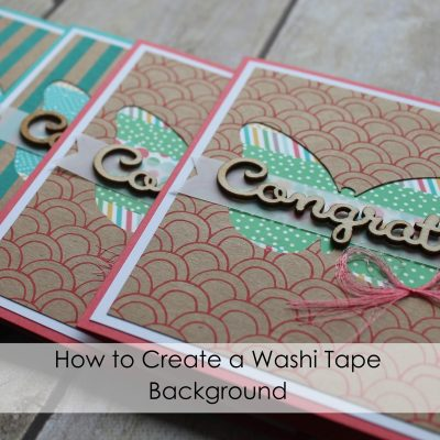 How to Create a Washi Tape Background