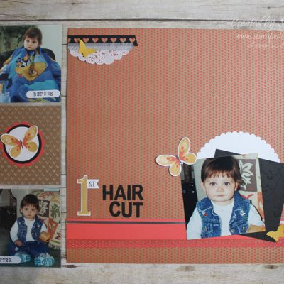 First Hair Cut Layout