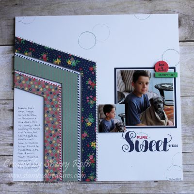 Pure Sweetness Layout using Ready to Pop by Stampin' Up!
