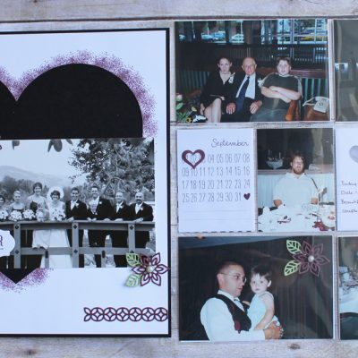 Combined Traditional and Pocket Page Wedding Layout